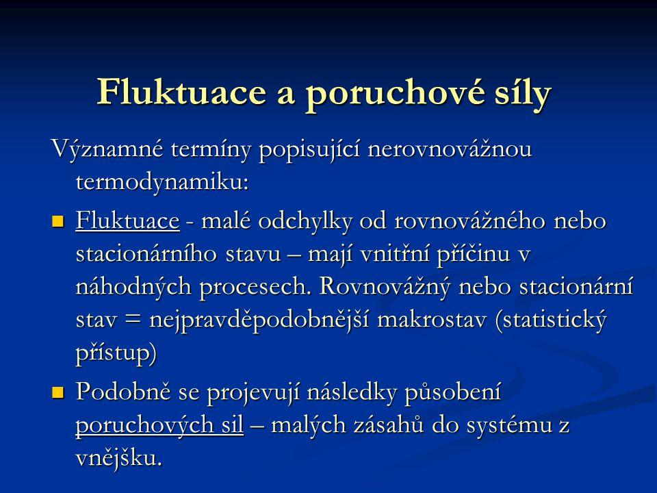 Fluktuace a poruchové síly