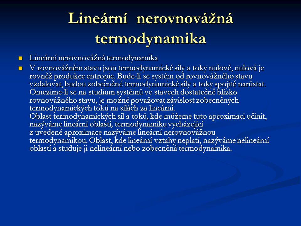 Lineární nerovnovážná termodynamika