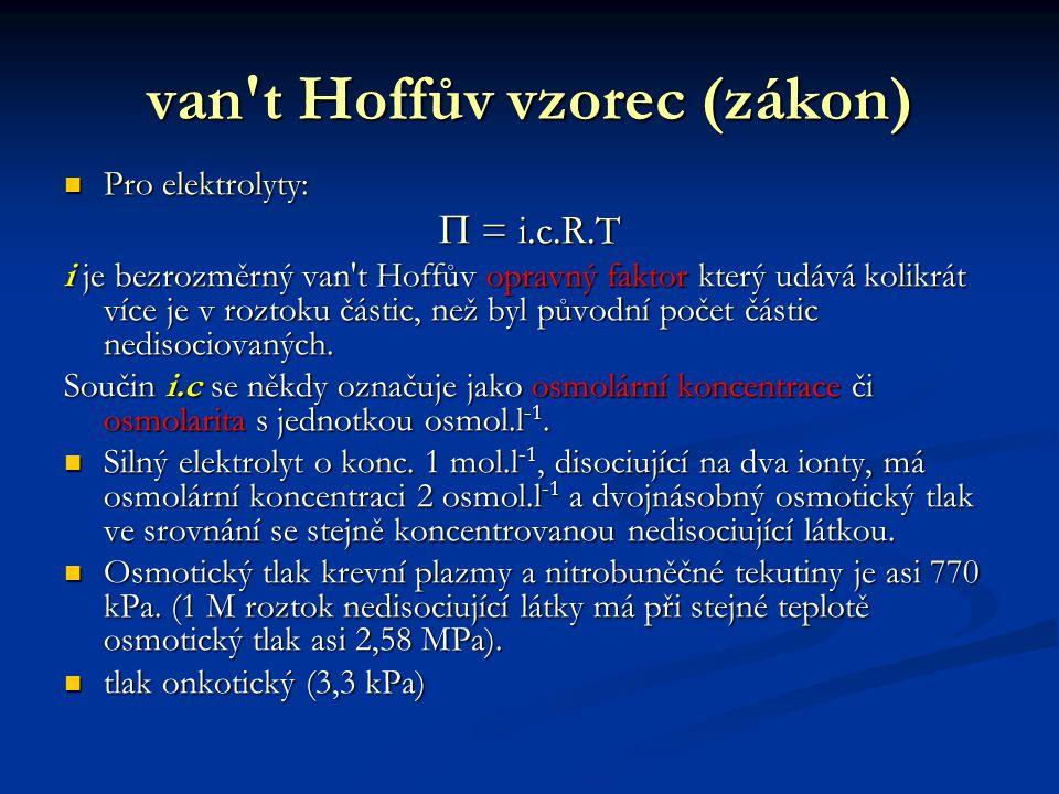 van t Hoffův vzorec (zákon)