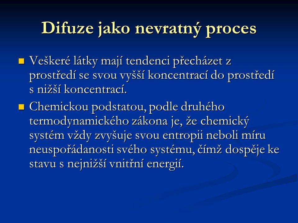Difuze jako nevratný proces