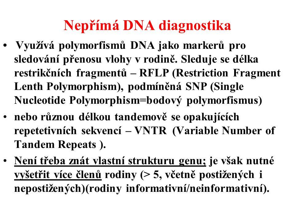 Nepřímá DNA diagnostika