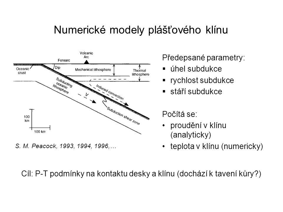 Numerické modely plášťového klínu