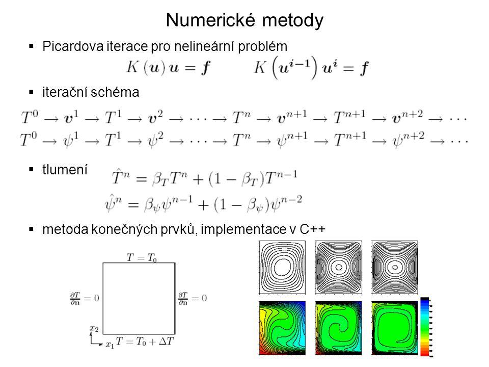Numerické metody Picardova iterace pro nelineární problém