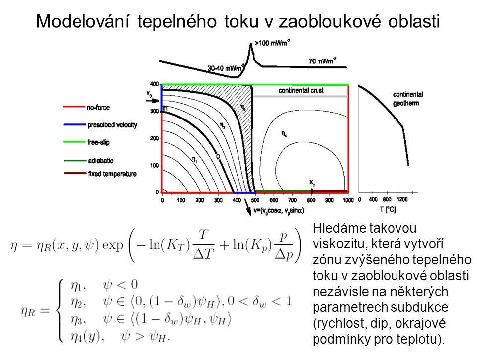 Modelování tepelného toku v zaobloukové oblasti