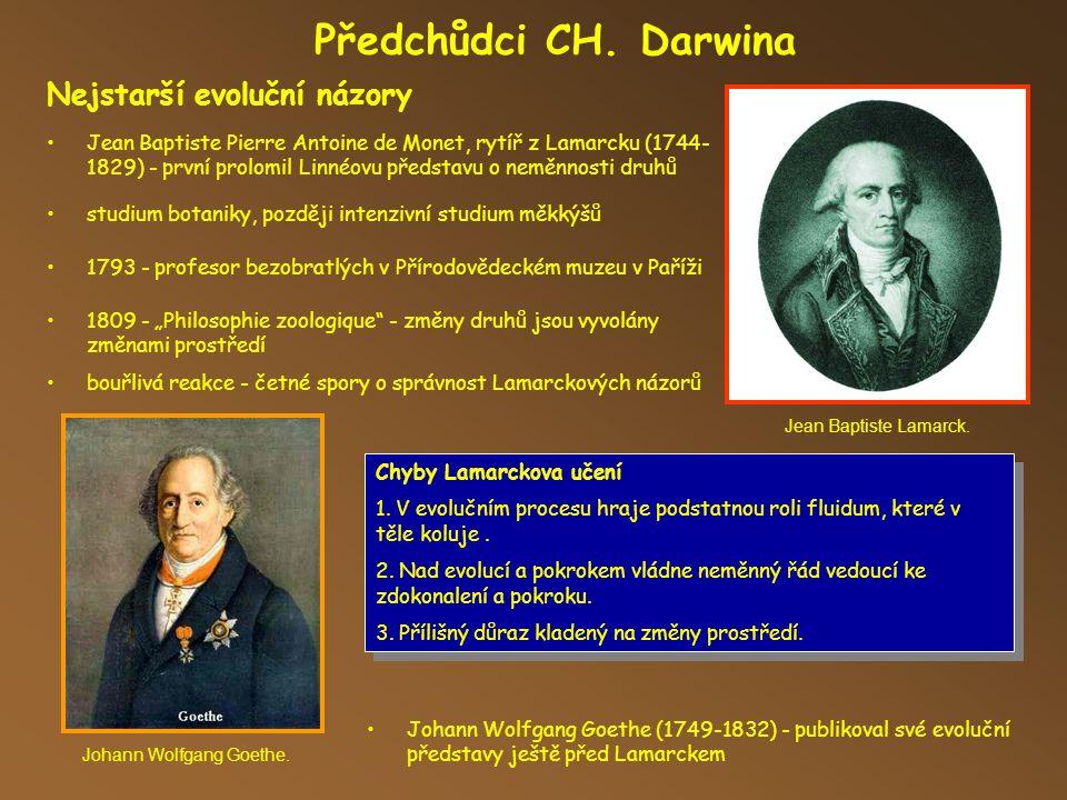 Předchůdci CH. Darwina Nejstarší evoluční názory