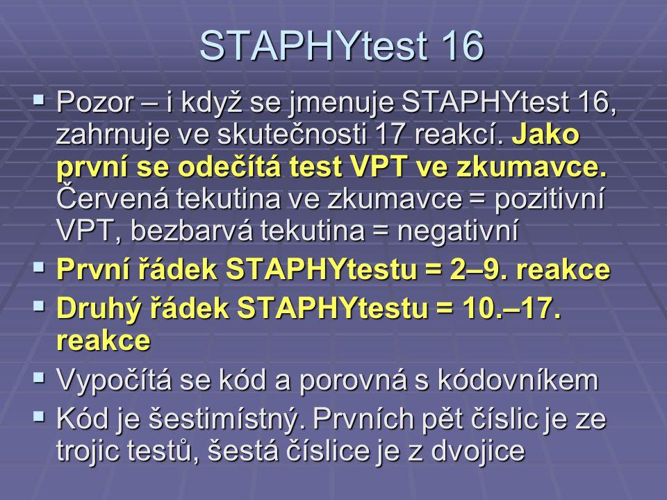 STAPHYtest 16