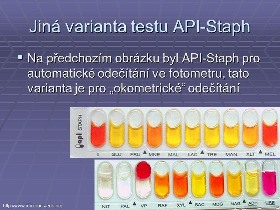 Jiná varianta testu API-Staph