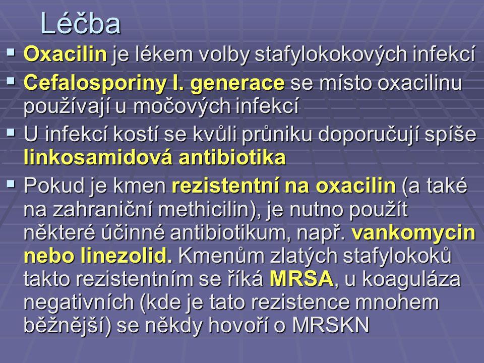 Léčba Oxacilin je lékem volby stafylokokových infekcí