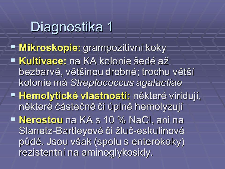 Diagnostika 1 Mikroskopie: grampozitivní koky
