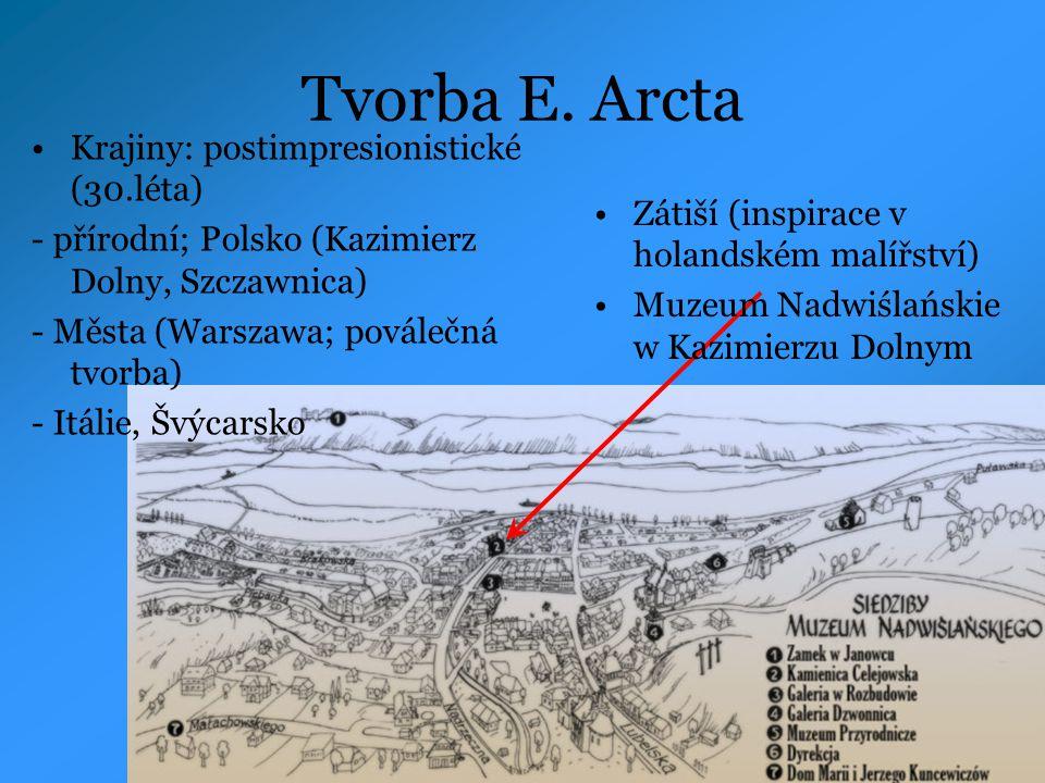 Tvorba E. Arcta Krajiny: postimpresionistické (30.léta)