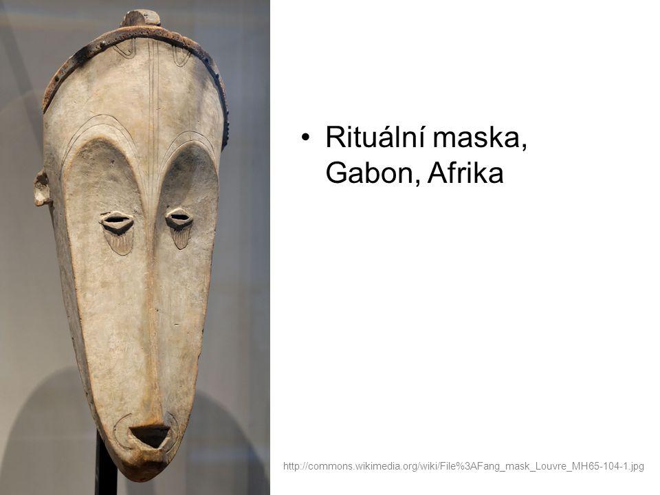 Rituální maska, Gabon, Afrika