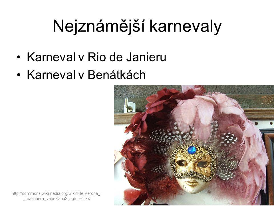Nejznámější karnevaly