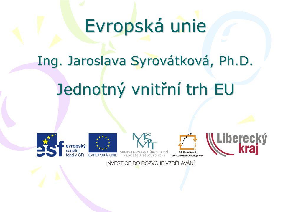 Evropská unie Ing. Jaroslava Syrovátková, Ph. D