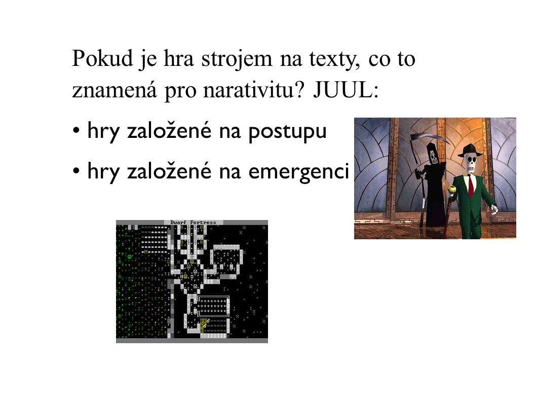 Pokud je hra strojem na texty, co to znamená pro narativitu JUUL: