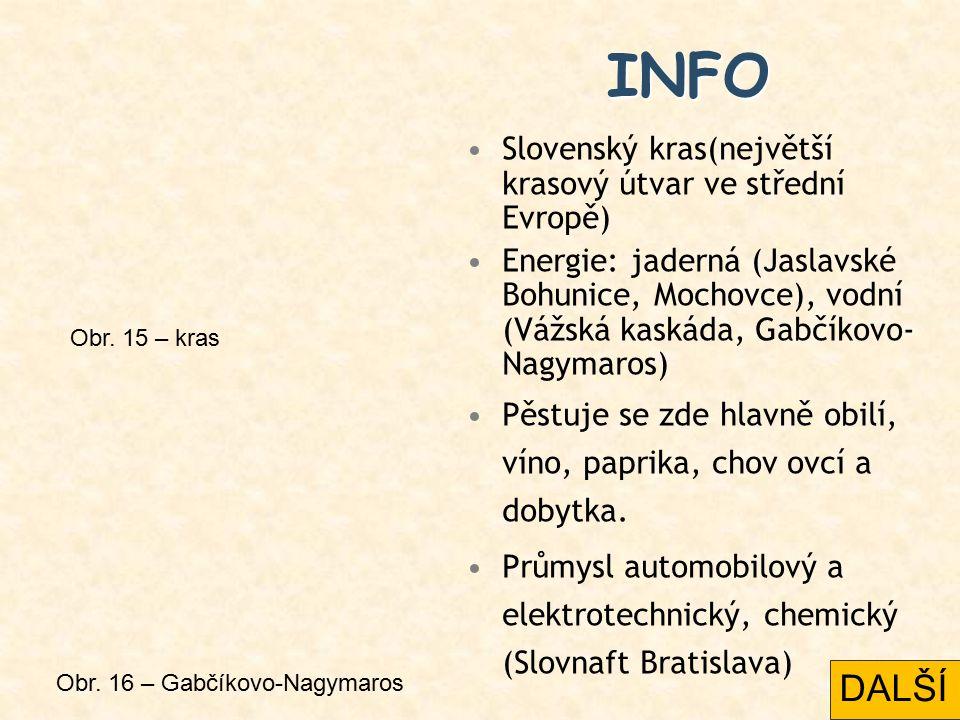 INFO DALŠÍ Slovenský kras(největší krasový útvar ve střední Evropě)