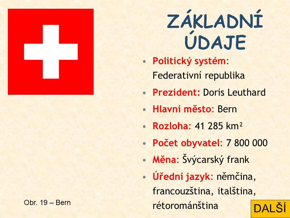 ZÁKLADNÍ ÚDAJE DALŠÍ Politický systém: Federativní republika