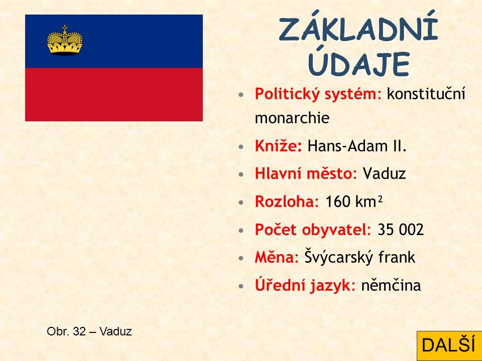 ZÁKLADNÍ ÚDAJE DALŠÍ Politický systém: konstituční monarchie