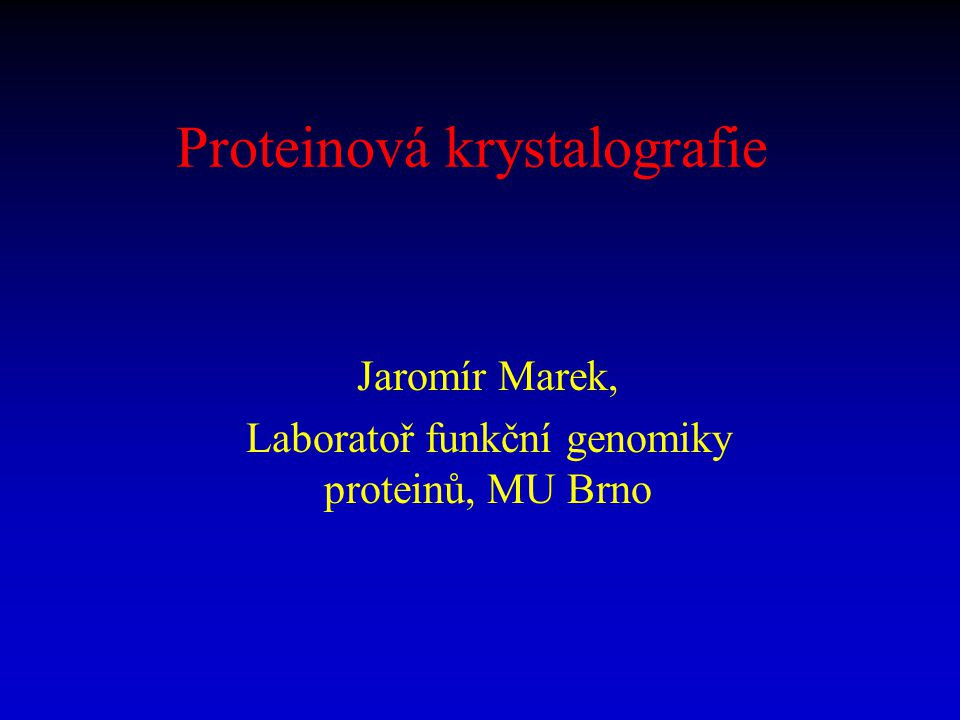 Proteinová krystalografie