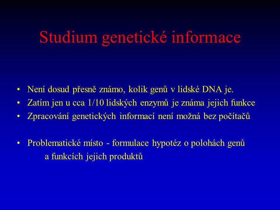 Studium genetické informace