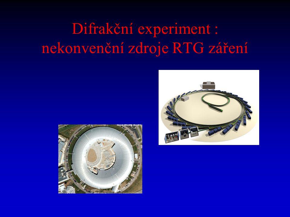 Difrakční experiment : nekonvenční zdroje RTG záření