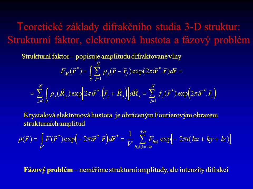 Teoretické základy difrakčního studia 3-D struktur: Strukturní faktor, elektronová hustota a fázový problém