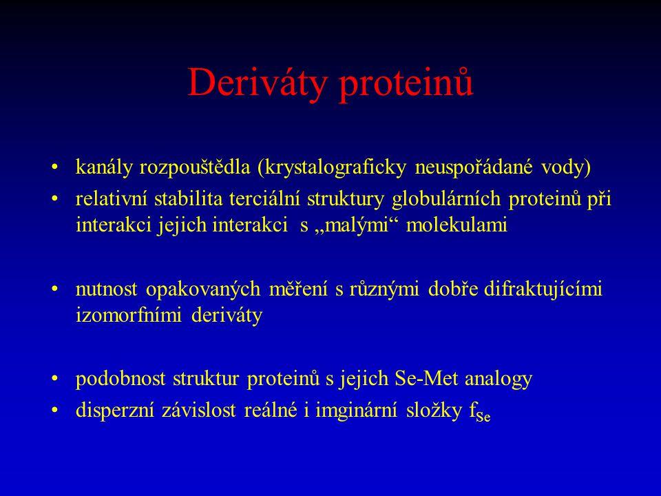 Deriváty proteinů kanály rozpouštědla (krystalograficky neuspořádané vody)