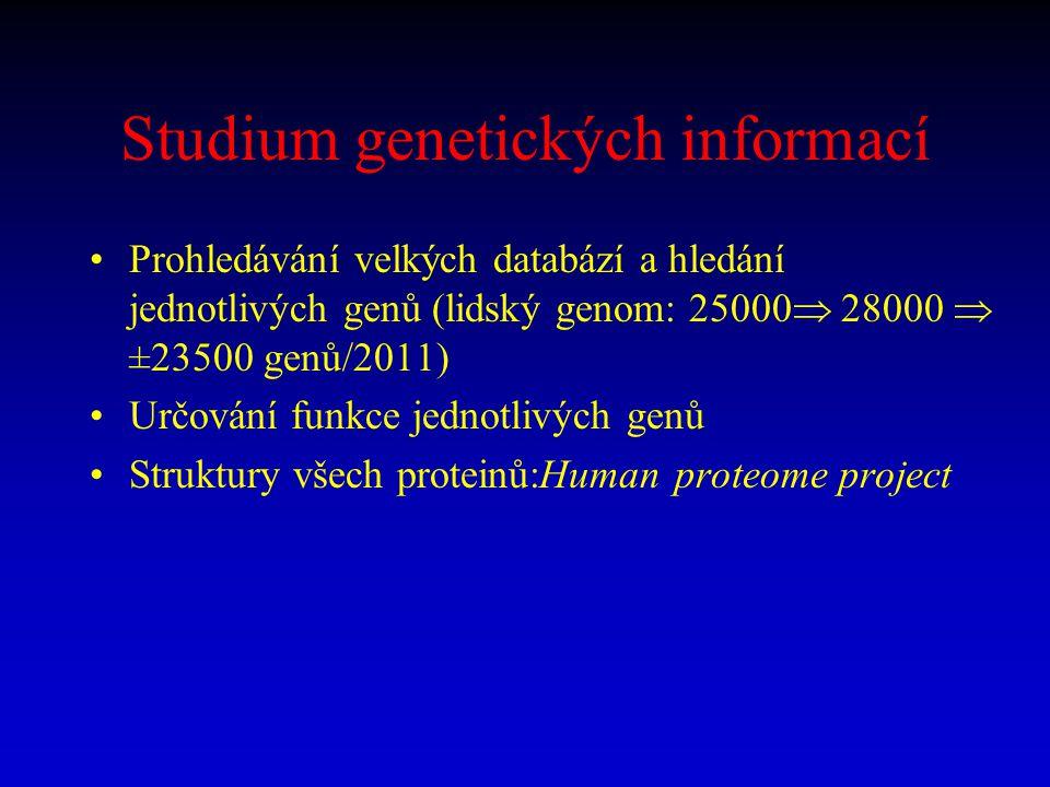 Studium genetických informací