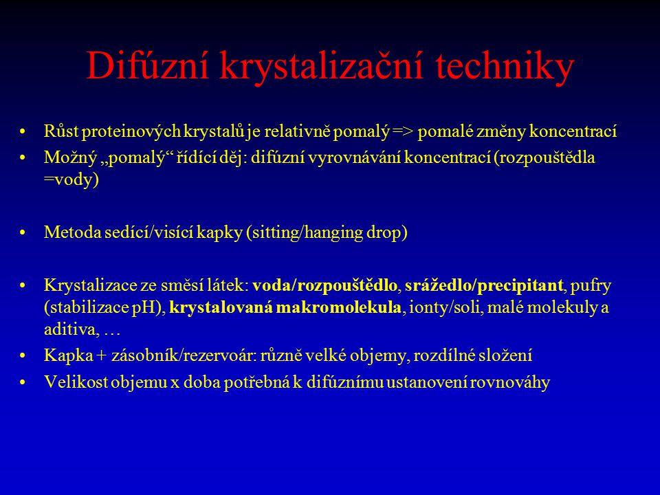 Difúzní krystalizační techniky