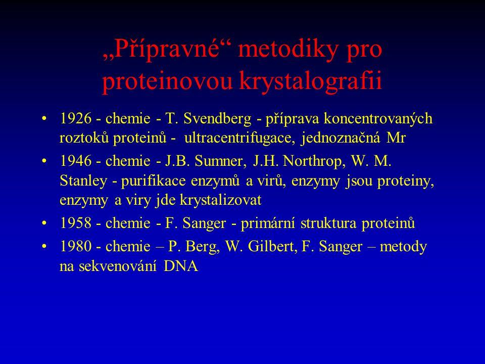 """""""Přípravné metodiky pro proteinovou krystalografii"""