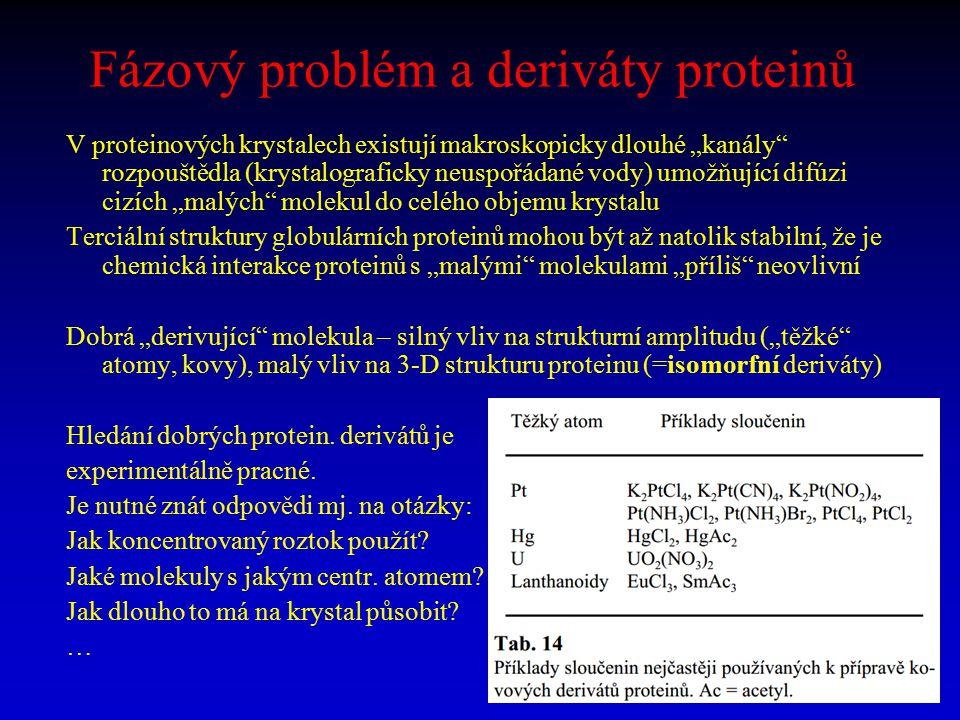 Fázový problém a deriváty proteinů