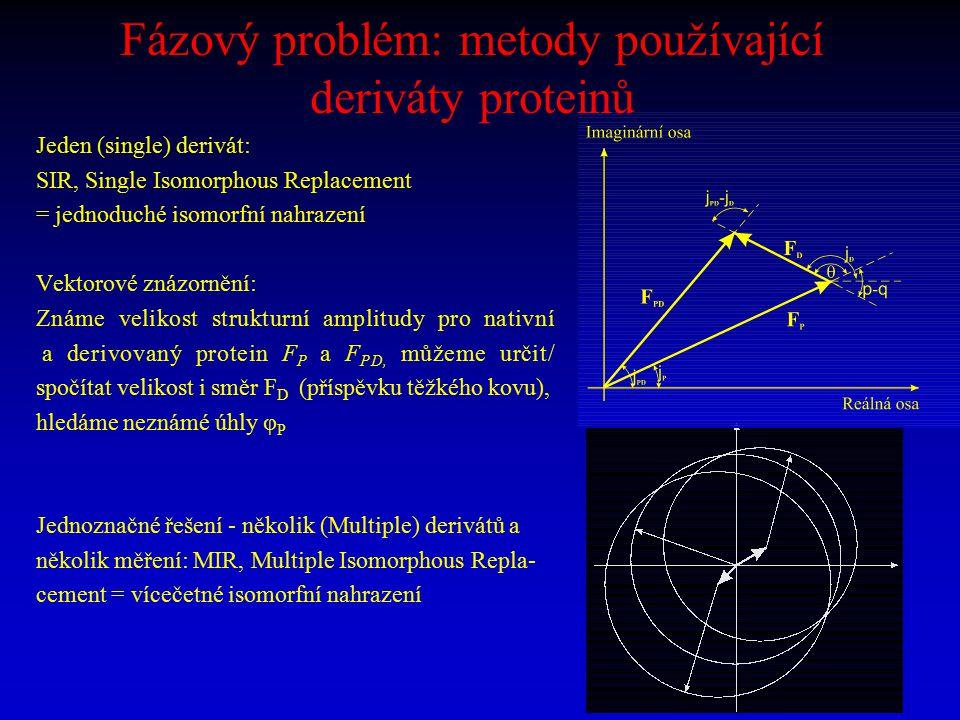 Fázový problém: metody používající deriváty proteinů