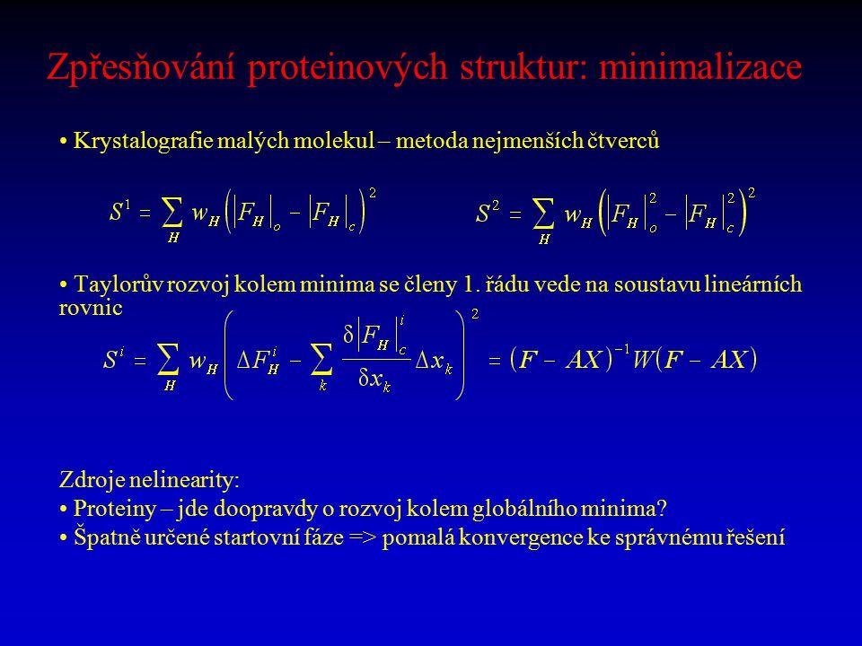 Zpřesňování proteinových struktur: minimalizace