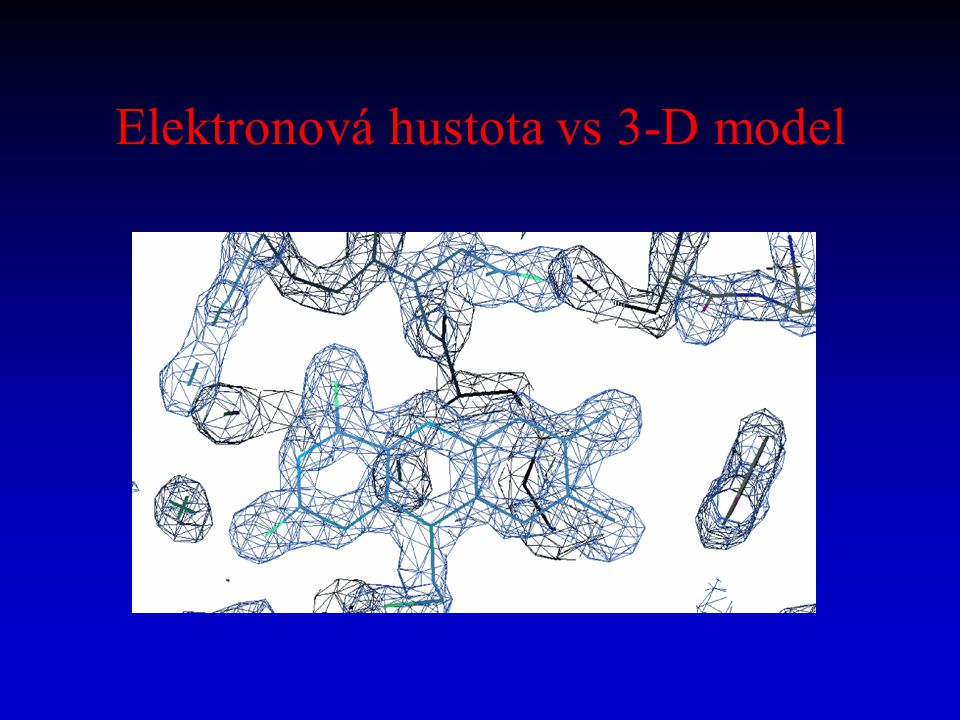 Elektronová hustota vs 3-D model