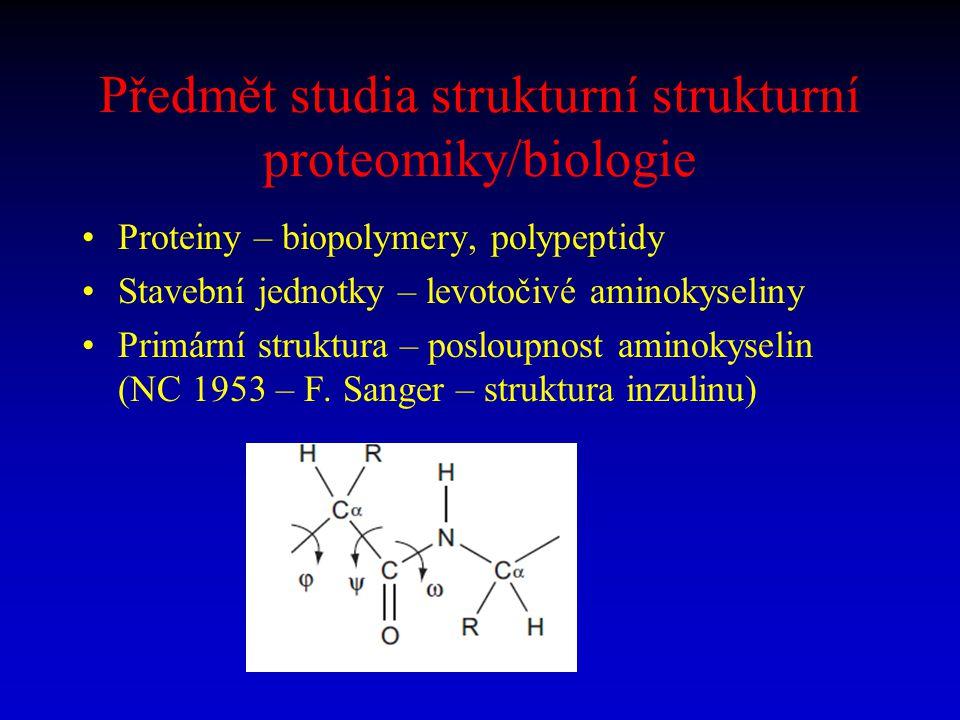 Předmět studia strukturní strukturní proteomiky/biologie