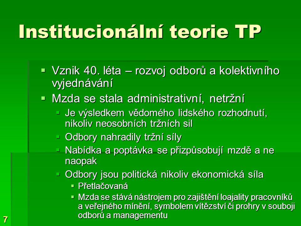 Institucionální teorie TP