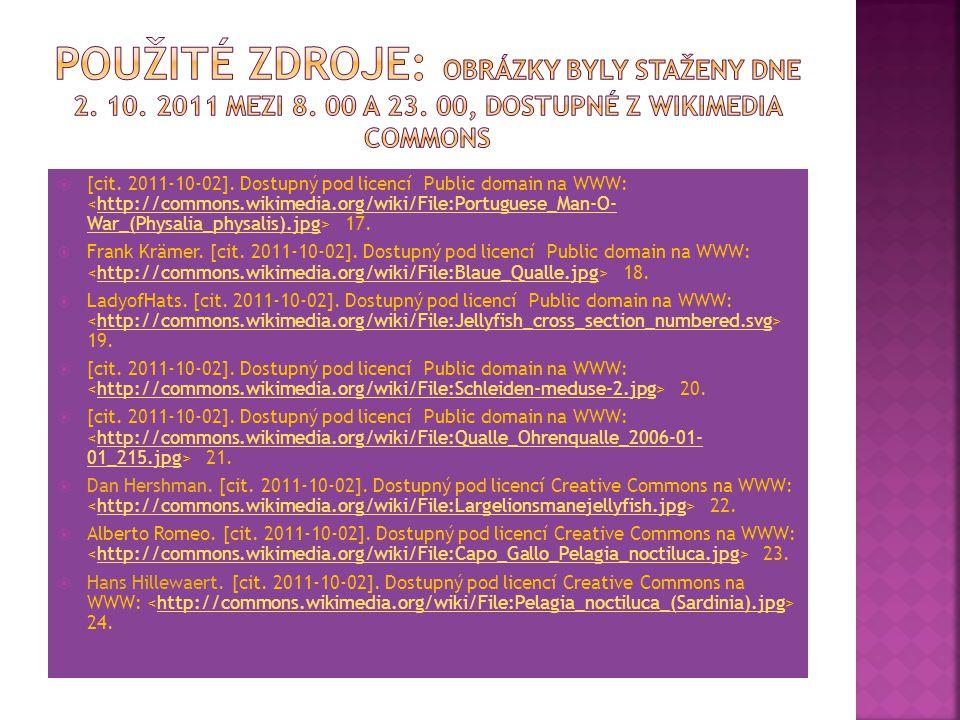 Použité zdroje: Obrázky byly staženy dne 2. 10. 2011 mezi 8. 00 a 23