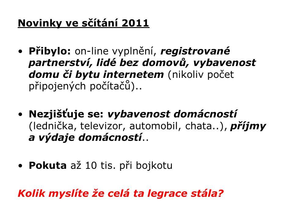 Novinky ve sčítání 2011