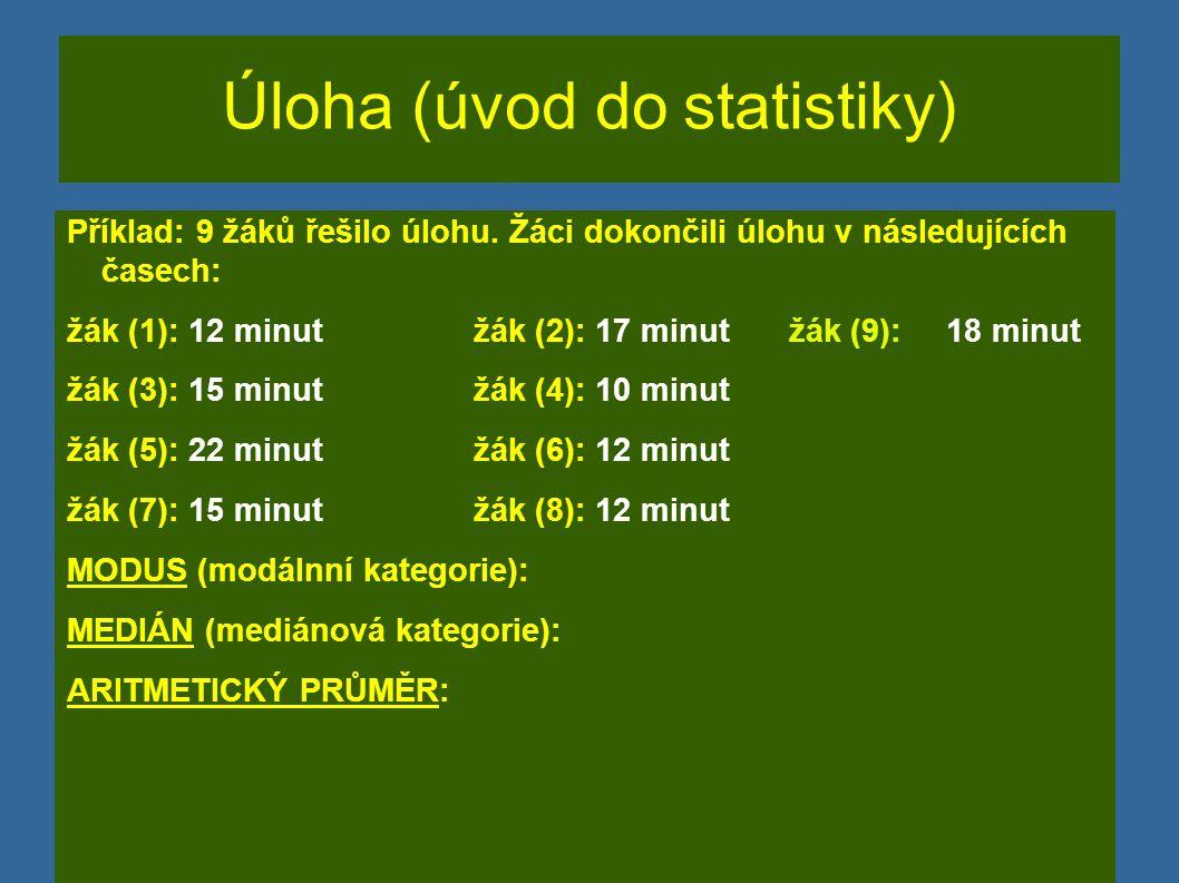 Úloha (úvod do statistiky)