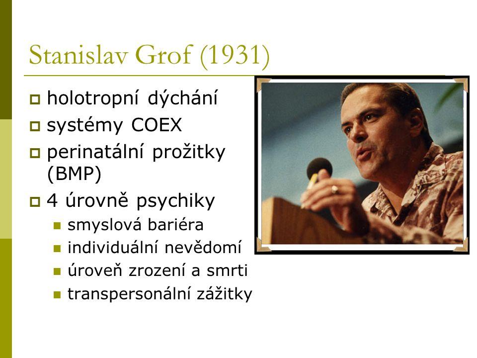 Stanislav Grof (1931) holotropní dýchání systémy COEX
