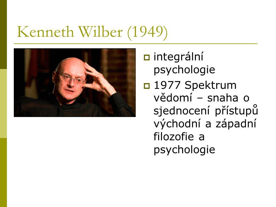 Kenneth Wilber (1949) integrální psychologie