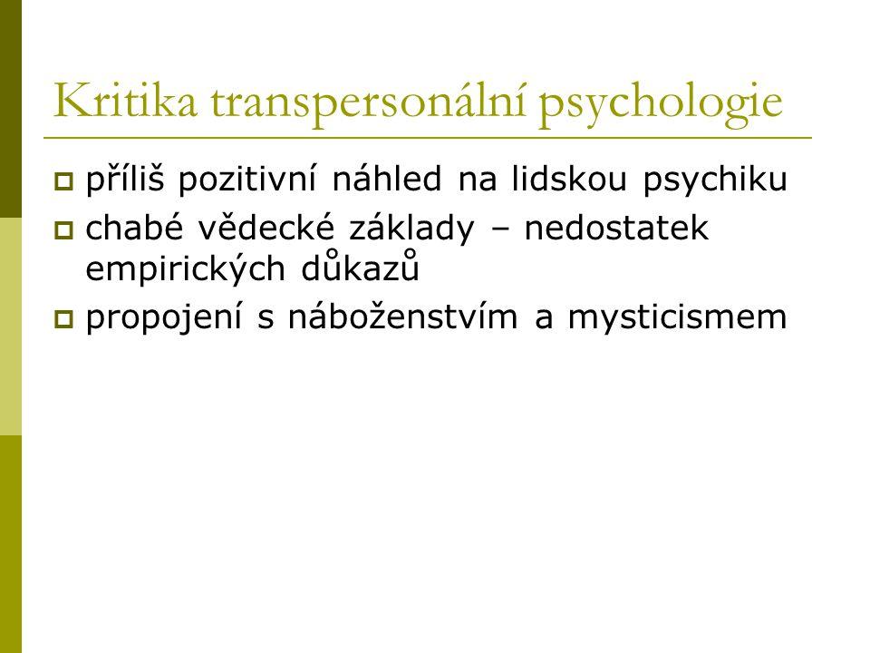 Kritika transpersonální psychologie