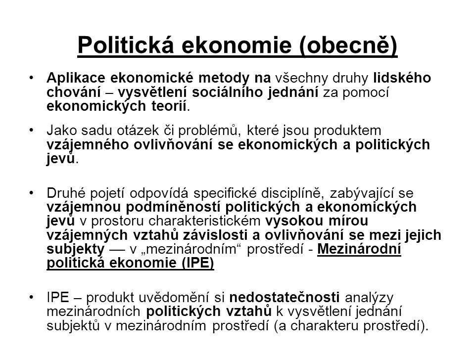 Politická ekonomie (obecně)
