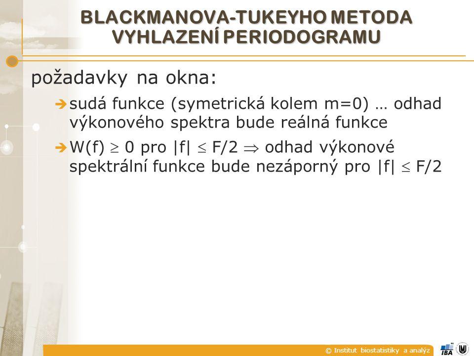 BLACKMANOVA-TUKEYHO METODA VYHLAZENÍ PERIODOGRAMU