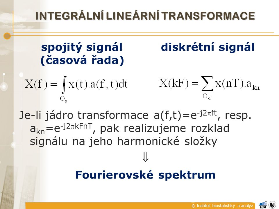 Integrální lineární transformace