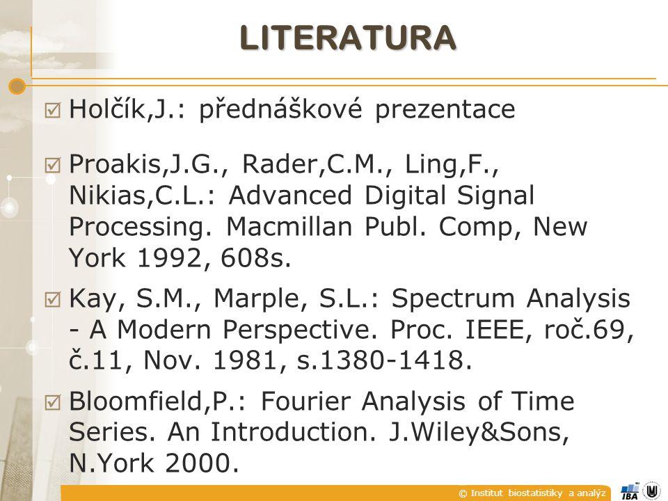 literatura Holčík,J.: přednáškové prezentace