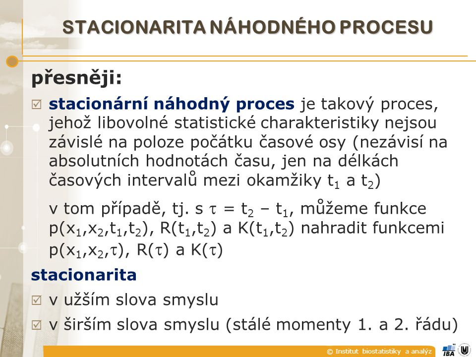 Stacionarita náhodného procesu