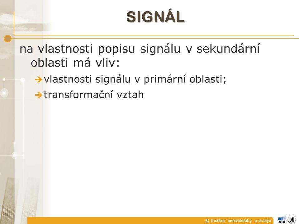 signál na vlastnosti popisu signálu v sekundární oblasti má vliv:
