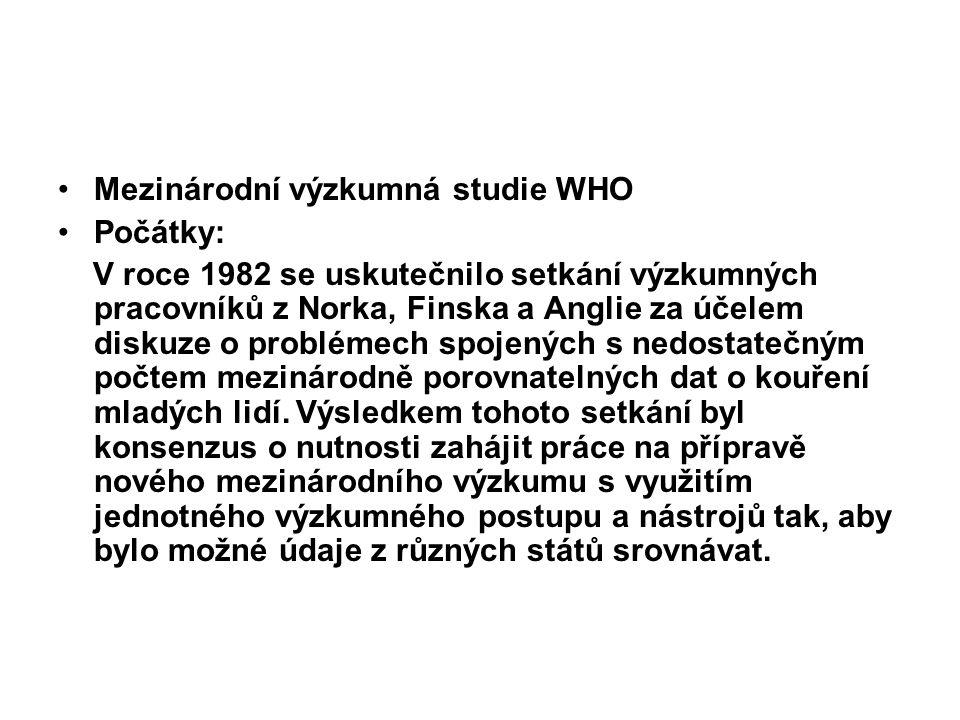 Mezinárodní výzkumná studie WHO