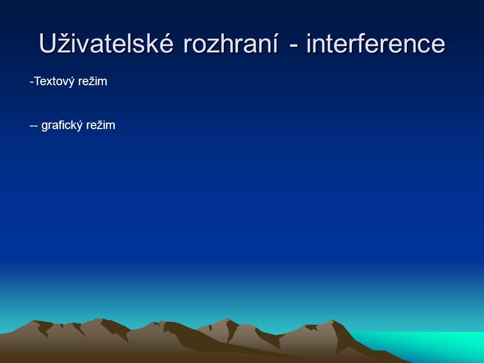 Uživatelské rozhraní - interference