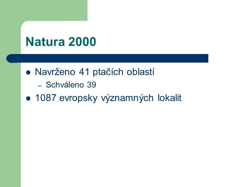 Natura 2000 Navrženo 41 ptačích oblastí